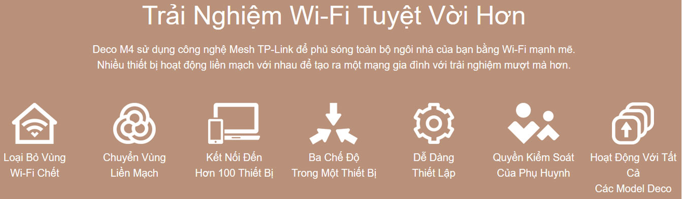 trải nghiệm Wifi tuyệt vời với Deco M4